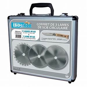 Scie Circulaire Acier : coffret de 3 lames de scie circulaire en acier carbure ~ Edinachiropracticcenter.com Idées de Décoration