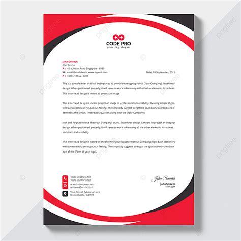 business letterhead design template template