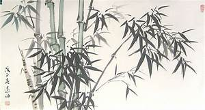 Bamboo in Wind - Chinese bamboo painting