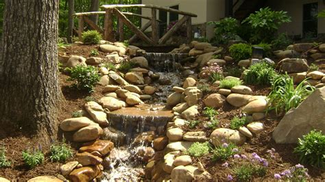rustic garden features water features for backyard landscape tropical with aquatic garden fountain pond