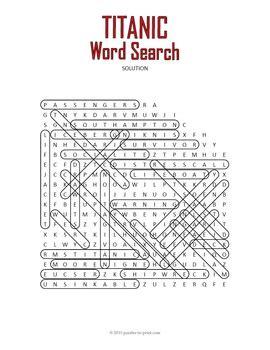 titanic word search puzzle  puzzles  print tpt