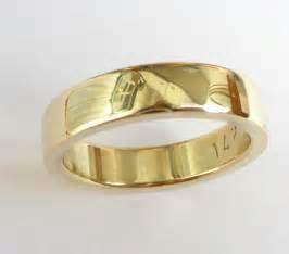 mens gold wedding band mens wedding band 39 s gold ring wedding ring thick