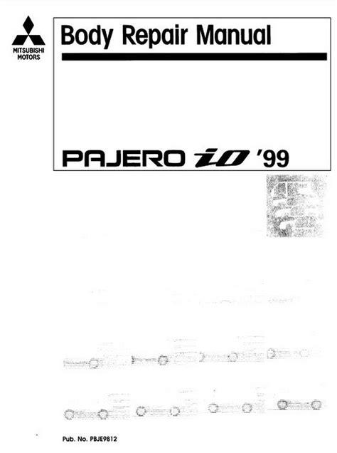 car service manuals pdf 1988 mitsubishi pajero on board diagnostic system mitsubishi pajero io 1999 body repair manual pdf online download