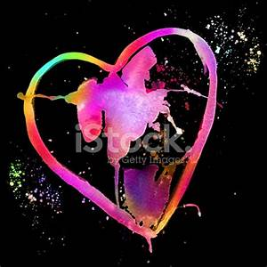 Heart Watercolor Neon stock photos Free