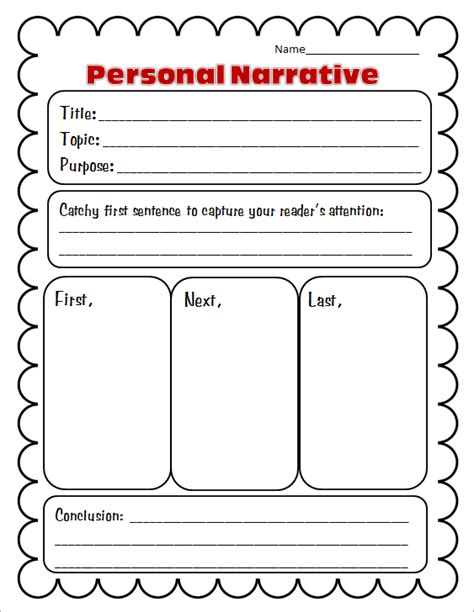 11811 personal essay exles for high school personal narrative introduction worksheet worksheet free