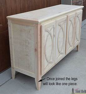 DIY Buffet-Sideboard with Circle Trim Doors - Her Tool Belt