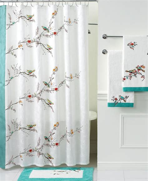 lenox simply bath accessories chirp shower curtain