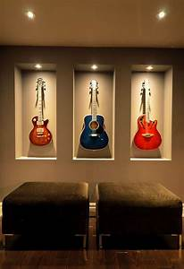 Breathtaking guitar wall hanger decorating ideas for Amazing options for accent wall ideas