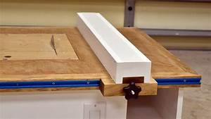 Make A Table Saw Fence For Homemade Table Saw - YouTube