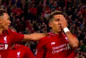 roberto firmino mocks eye injury  game winning goal