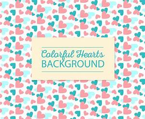 Cute Colorful Hearts Background Vector Art & Graphics ...