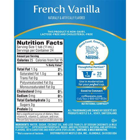 Oz of coffee mate liquid creamer sugar free french vanilla. Coffee Mate Creamer Nutrition Facts | Besto Blog