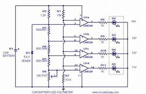 Car Battery Voltmeter Circuitelectronics Project Circuts