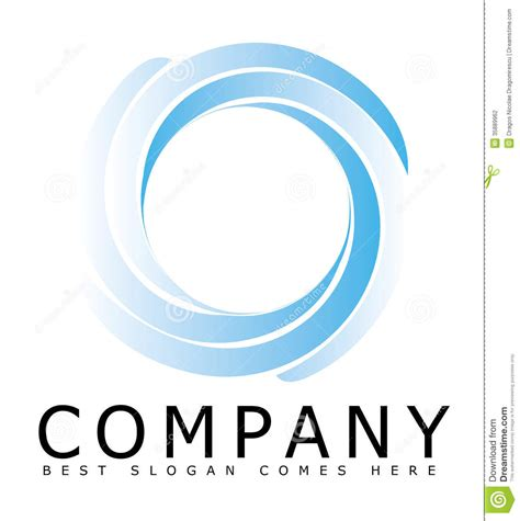 circle logo template blue circle logo from separate parts stock photography image 35889962