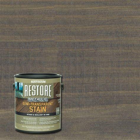 rust oleum restore  gal metallic semi transparent silver