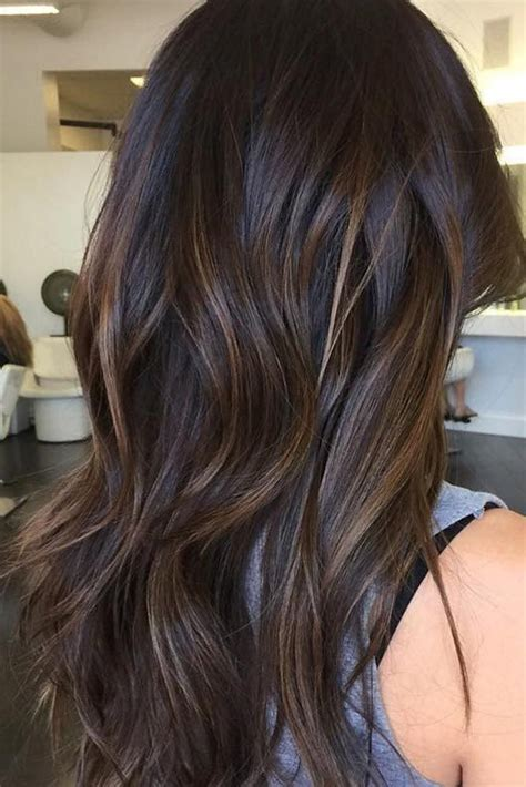 subtle brunette balayage hair colors   hair