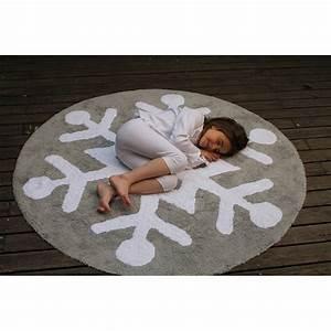 Tapis Blanc Et Gris : tapis enfant snowflake gris et blanc lorena canals 140x140 ~ Melissatoandfro.com Idées de Décoration