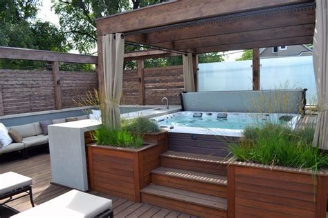 Patios With Tubs by Gorgeous Decks And Patios With Tubs Diy
