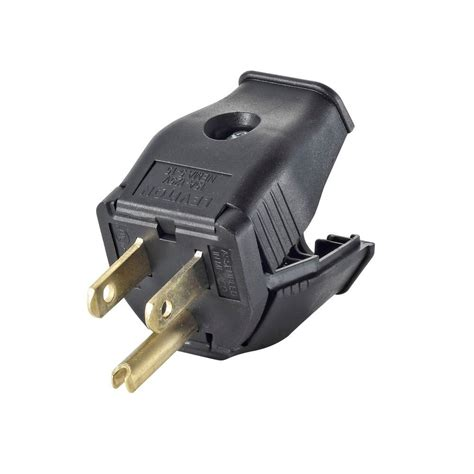 Leviton Amp Compact Right Angle Plug Gfci Black