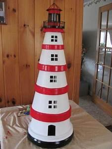 DIY: Cute Clay Pot Lighthouses • Garden Decor • 1001 Gardens