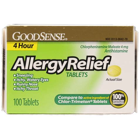 chlor trimeton comparable allergy relief tablets