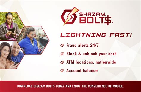 We have redesigned our website to make your experience easier on all of your devices! Shazam Bolt$ - C US Bank