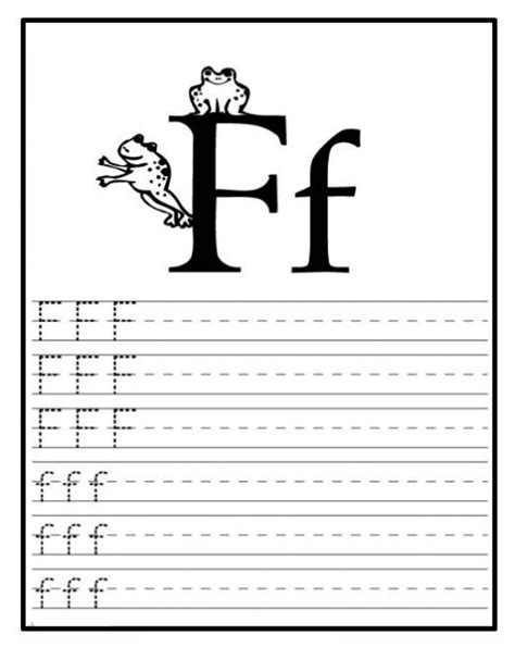 letter writing worksheets for preschool free printable letter f worksheets for kindergarten 270