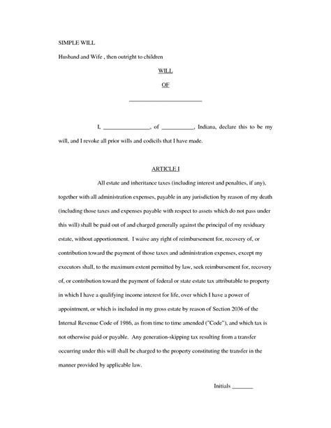 simple will template free best photos of simple will forms free printable free printable last will forms sle simple