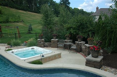 pool patio and spa set baker pool construction of st louis custom tubs spas
