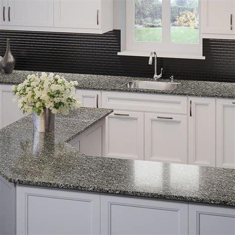 countertops lowes shop allen roth coho quartz kitchen countertop sle at