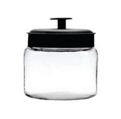 64 oz Mini Montana Jars /Black Metal Lids   Candy Containers