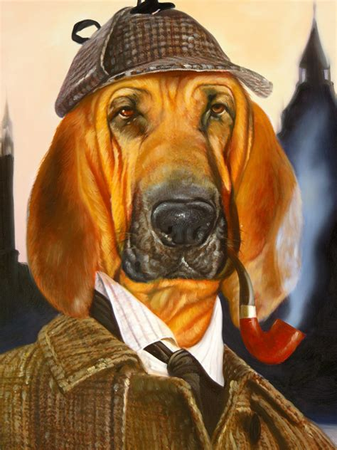 The Sherlock Splendid Beast Pet Oil Painting Template