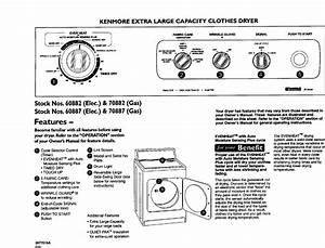 Kenmore 11060882990 User Manual Automatic Washer Manuals