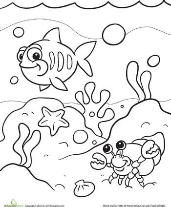 sea coloring page mermaid party preschool