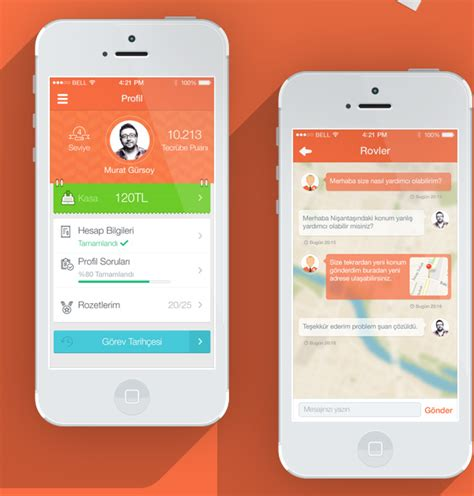 mobile app design inspiration rovler designbeep