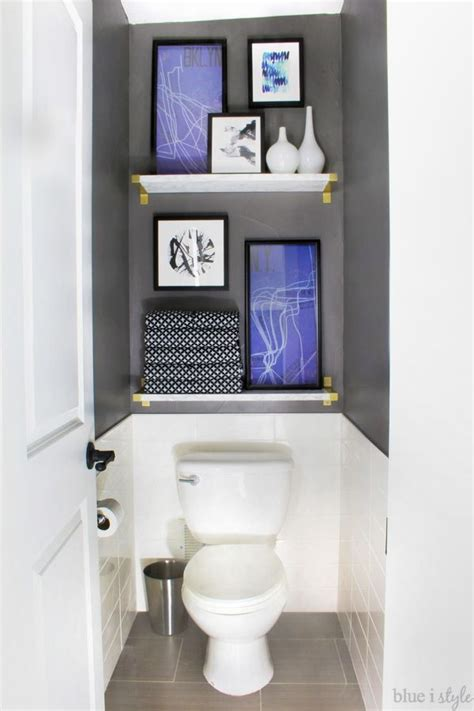 cool water closet graphic glam master bathroom makeover home