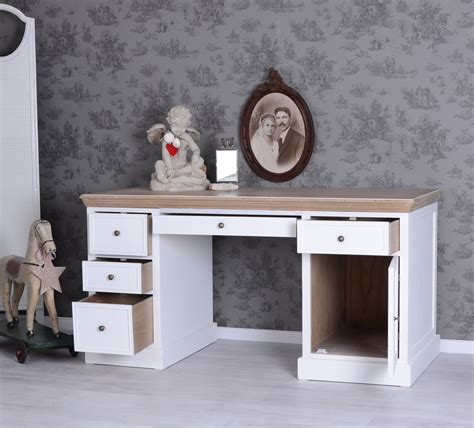 bureau shabby chic table d 39 ordinateur blanc meubles d