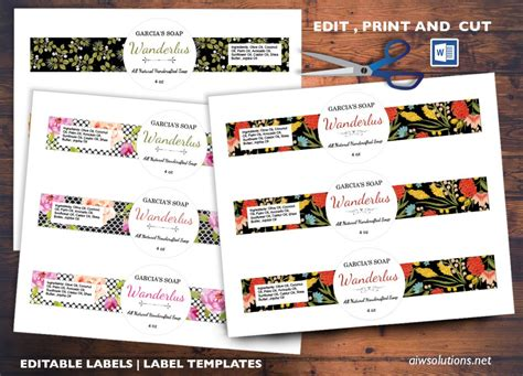 edit pint  cut sticker template editable label template
