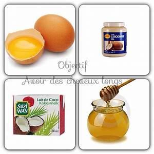 Soin Cheveux Huile De Coco : recette de masque pour les cheveux oeufs huile de coco ~ Melissatoandfro.com Idées de Décoration