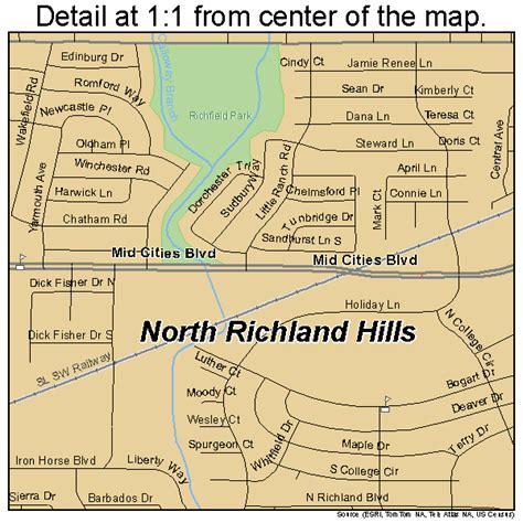 richland tx north richland hills texas street map 4852356