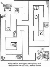 Preschool Dover Grocery Publications Maze Doverpublications Cooking Coloring Pages Sampler Activity Books Samples Puzzle Welcome Puzzles Childrens Afkomstig Van sketch template