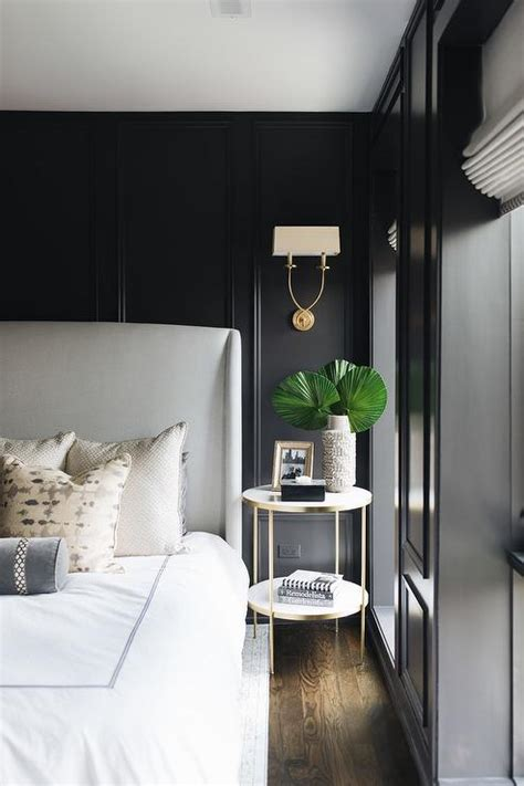 black walls  black trim moldings  light gray