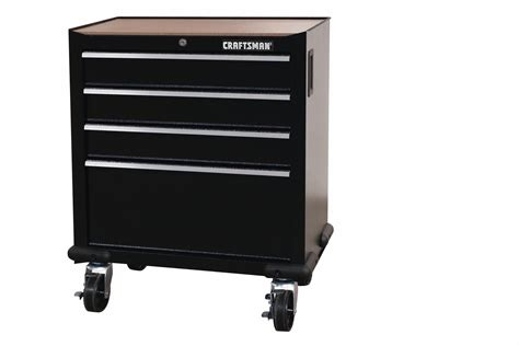 sears craftsman garage storage cabinets craftsman 28 quot 4 drawer garage storage cabinet black