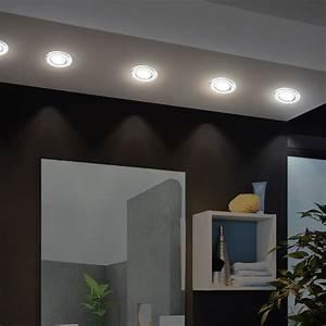 Wohnzimmer Led Lampen : 3er set wand einbau spots chrom wohnzimmer decken lampen boden leuchten im set inklusive led ~ Frokenaadalensverden.com Haus und Dekorationen
