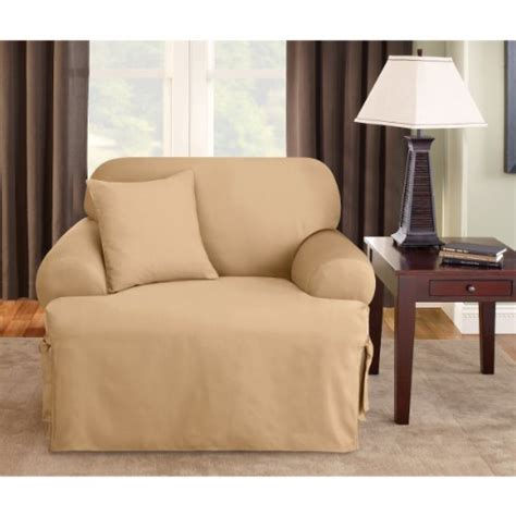 sure fit logan 1 t cushion ties chair slipcover green home garden decor slipcovers