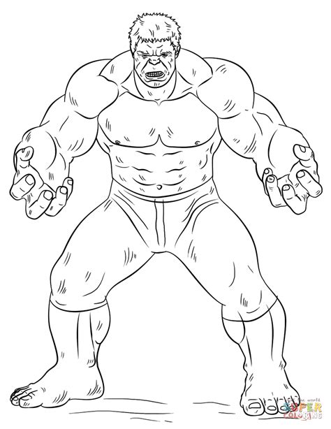 hulk coloring page  printable coloring pages