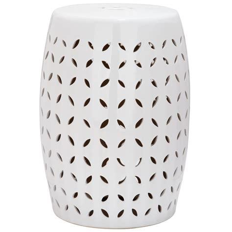 white garden stool shop safavieh 18 5 in white ceramic barrel garden stool at