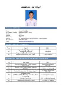 contoh resume cv yang baik 15 contoh curriculum vitae ben