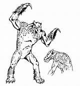 Hook Horror Monster Dnd Dungeons Dragons Becmi Oldschoolfrp Heartstone Hooked sketch template