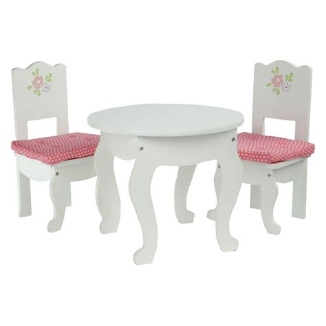 princess table and chair set teamson kids little princess 3 piece doll table and chair